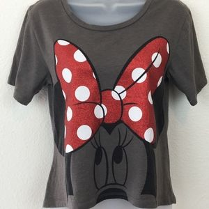 Minnie Mouse Disney High-Lo Red Bow Tank Size S